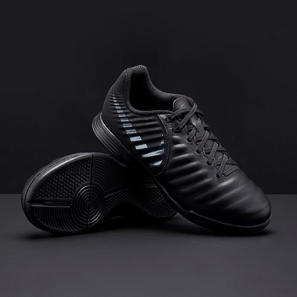 Купить детские футзалки nike tiempo legend vii academy ic - black
