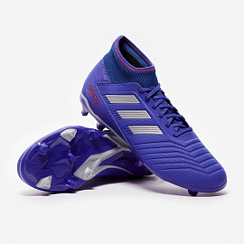 Бутсы  adidas Predator 19.3 FG - Bold Blue/Silver Metallic/Active Red