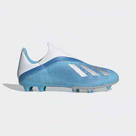 Бутсы Adidas X 19.3 Laceless FG - Bright Cyan/Core Black/Pink