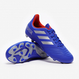 Бутсы   adidas Kids Predator 19.4 FG - Bold Blue/Silver Metallic/Active Red