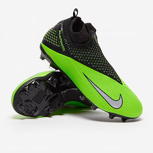 Детские бутсы Nike Phantom Vision 2 Elite Dynamic Fit MG - Green Strike/Platinum/Black