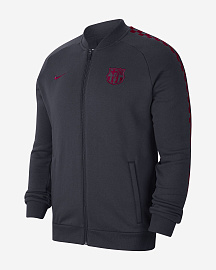 Олимпийка Nike FC Barcelona Fleece Track Jacket - Obsidian/Noble Red