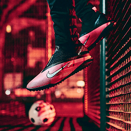 Шиповки Nike React Phantom Vision 2 Pro Dynamic Fit TF - Laser Crimson/Black/Metallic Silver