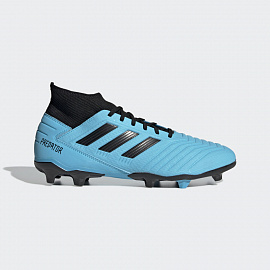 Бутсы Adidas Predator 19.3 FG - Bright Cyan/Core Black/Yellow