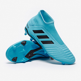 Бутсы Adidas Nemeziz 19.3 Laceless FG - Bright Cyan/Core Black/Yellow