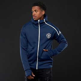 adidas Manchester United 2018/19 ZNE 3.0 Hoodie - Collegiate Navy/Night Navy