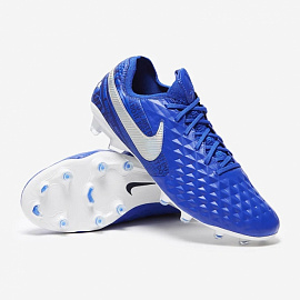Футбольные бутсы NIKE Tiempo Legend 8 Elite FG - Blue/White