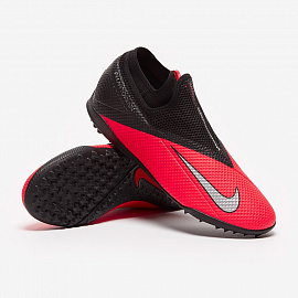 Шиповки Nike Phantom Vsn 2 Academy DF TF - Laser Crimson/Black/Metallic Silver
