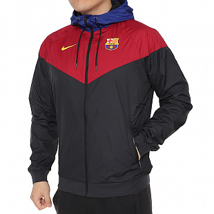 Куртка Nike FCB M Nsw Windrunner - Bordo/Blue