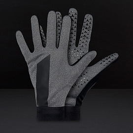 Перчатки  Nike Academy Hyperwarm Gloves - Charcoal Heather/Black/Black