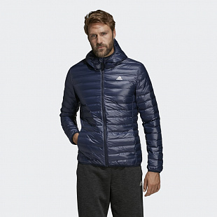 Пуховик Adidas Varilite Hooded Down Jacket - Blue