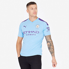 Футболка Puma Man City 19/20 Home Shirt SS - Team Light Blue/Tillandsia Purple