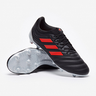 Бутсы adidas Copa 19.3 FG - Core Black/Hi-Res Red/Silver