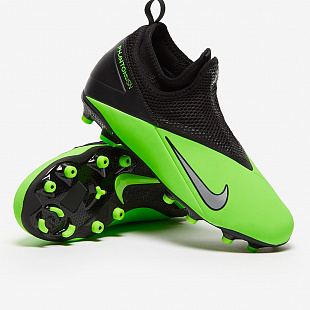 Детские бутсы Nike Phantom Vision 2 Academy Dynamic Fit MG - Green Strike/Platinum/Black