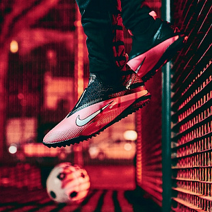 Шиповки Nike React Phantom Vsn 2 Pro DF TF - Laser Crimson/Silver/Black