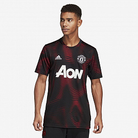 Футболка adidas Manchester United 2018/19 Home Pre-Shirt - Black/Real Red