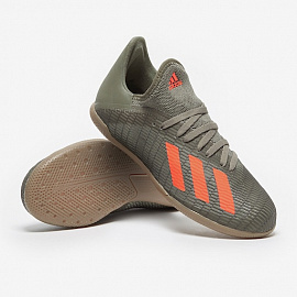 Детские футзалки Adidas X 19.3 IN - Legacy Green/Solar Orange/Chalk