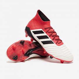 Бутсы  adidas Predator 18.1 FG - White/Core Black/Real Coral