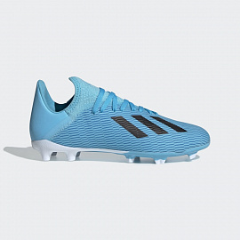 Детские бутсы adidas X 19.3 FG - Bright Cyan/Core Black/Pink