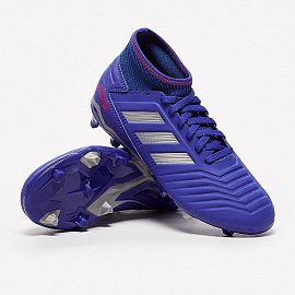 Детские бутсы Adidas Predator 19.3 FG - Bold Blue/Silver Metallic/Active Red