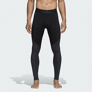 Белье Adidas Men Training Alpha skin tights Clima Warm - Black/Grey