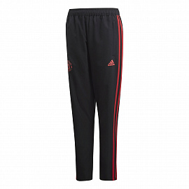 Детские брюки Adidas Manchester United Downtime - Black/Red