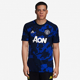 Футболка adidas Manchester United 2019/20 Home Pre-Shirt  - Mystery Ink/Collegiate Navy