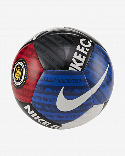 Мяч Nike F.C. Football - White/Black/University Red/White