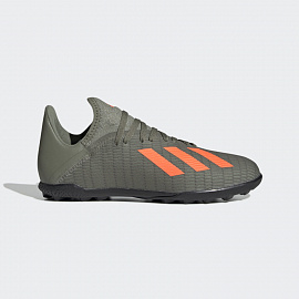 Детские шиповки Adidas X 19.3 FG Cleats - Legacy Green/Solar Orange/Chalk