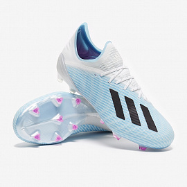 Бутсы Adidas X 19.1 FG - Bright Cyan/Core Black/Pink