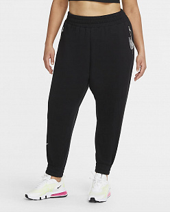 Укороченные брюки Nike Air Women's 7/8 Fleece Trousers (Plus Size) - black
