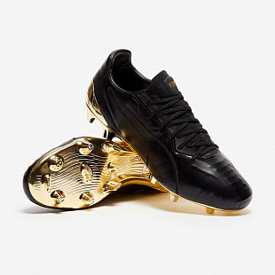 Бутсы Puma King Platinum FG/AG - Black/Gold