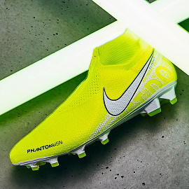 Бутсы Nike Phantom VSN Elite DF FG - Volt/White/Barely Volt