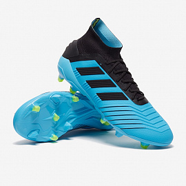 Бутсы Adidas Predator 19.1 FG - Bright Cyan/Core Black/Yellow