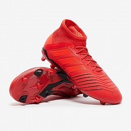 Детские бутсы Adidas Predator 19.1 FG - Active Red/Solar Red/Core Black