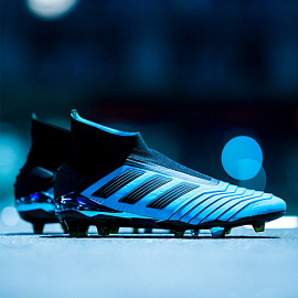 Бутсы Adidas Copa 19+ FG - Bright Cyan/Core Black/Yellow