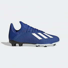 Детские бутсы Adidas X 19.3 FG - Royal Blue/White/Core Black
