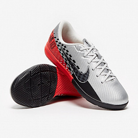 Детские футзалки Nike Mercurial Vapor 13 Academy Neymar IC - Chrome/Black/Red/Orbit/Platinum Tint