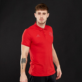 adidas Manchester United 17/18 SSP Polo - Real Red