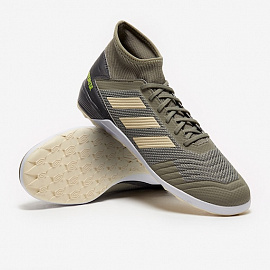 Обувь для зала Adidas Predator Tango 19.3 IN - Green/Sand/Solar Yellow