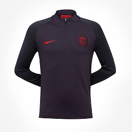Nike Youths Paris Saint-Germain 2019/20 Dry Strike Drill Top - Oil Grey/Oil Grey/University Red