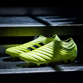 Бутсы Adidas Copa 19+ FG - Solar Yellow/Core Black