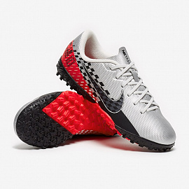 Детские шиповки Nike Mercurial Vapor 13 Academy Neymar TF - Chrome/Black/Red/Orbit/Platinum Tint