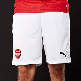 Шорты Puma Arsenal FC 2018/19 Home Shorts - White/Chili Pepper