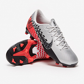 Детские бутсы Nike Mercurial Vapor 13 Academy Neymar FG/MG - Chrome/Black/Red/Orbit/Platinum Tint