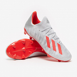 Бутсы adidas X 19.3 FG - Silver Metallic/Hi-Res Red/White