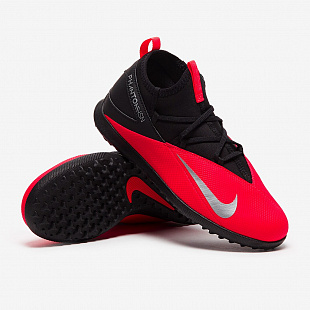 Детские шиповки Nike Phantom VSN 2 Club DF TF - Laser Crimson