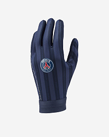 Перчатки Nike PSG Academy Hyperwarm - Midnight Navy/Midnight Navy/White
