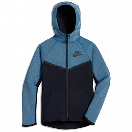 Детская толстовка Nike NSW Tech Fleece - Blue/Dark blue
