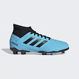 Детские бутсы Adidas Predator 19.3 FG - Bright Cyan/Core Black/Yellow